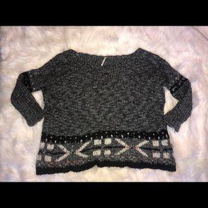 Free People Oversize Fairisle Sweater